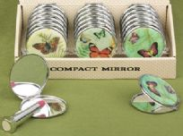 Butterfly Design Compact Mirror Favour